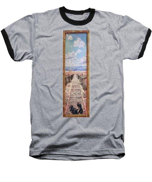 Fire Island Walkway To The Beach Baseball T-Shirt