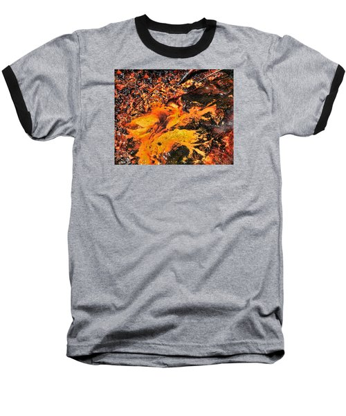Fire Baseball T-Shirt by John Bushnell