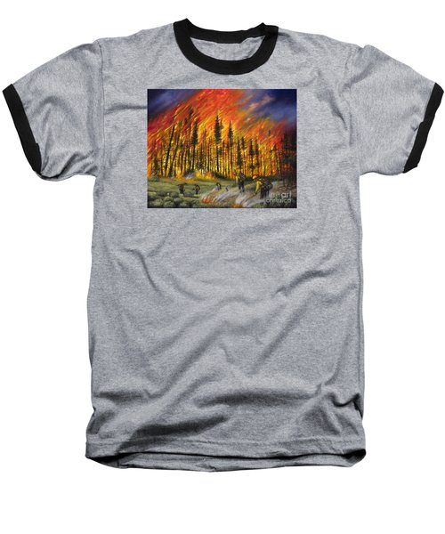 Fire Line 1 Baseball T-Shirt