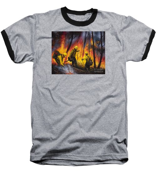 Fire Line 2 Baseball T-Shirt