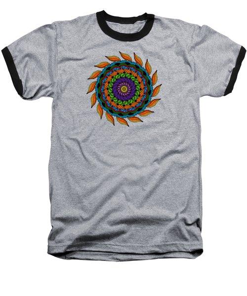 Fire Mandala Baseball T-Shirt