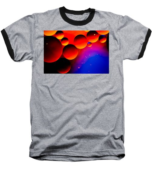 Fire Moons Baseball T-Shirt by Bruce Pritchett