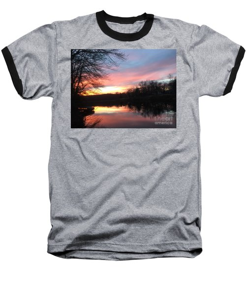 Fire On The Water Baseball T-Shirt by Jason Nicholas