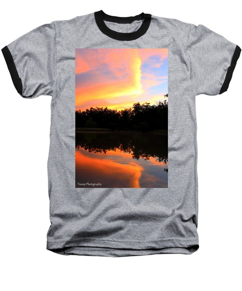 Fire On The Water Baseball T-Shirt