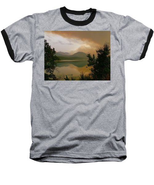 Fire Over St Mary Lake Baseball T-Shirt