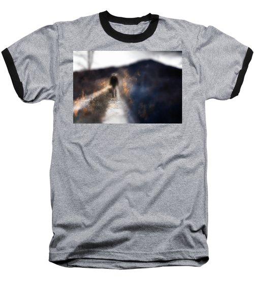 Fire Road Baseball T-Shirt by Gray  Artus