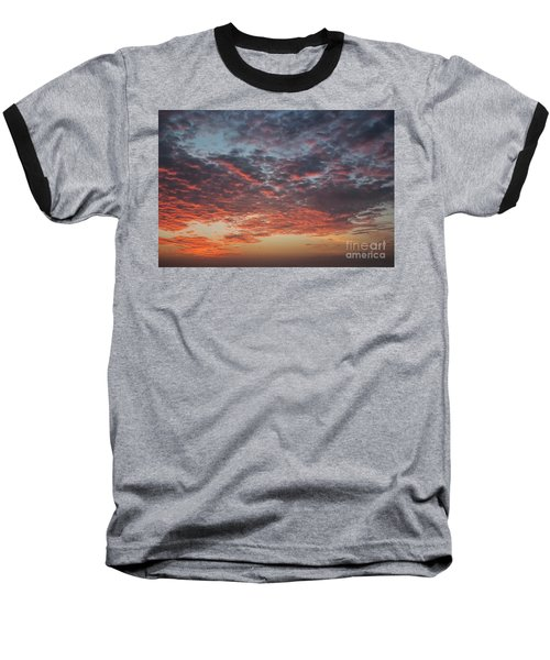 Fire Sky Baseball T-Shirt by Ana Mireles