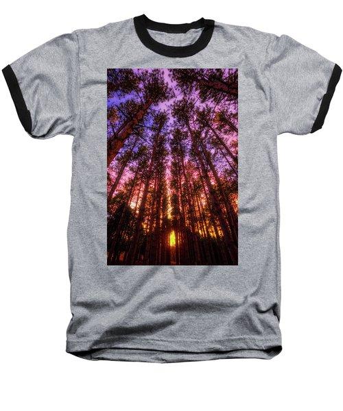 Baseball T-Shirt featuring the photograph Fire Sky - Sunset At Retzer Nature Center - Waukesha Wisconsin by Jennifer Rondinelli Reilly - Fine Art Photography