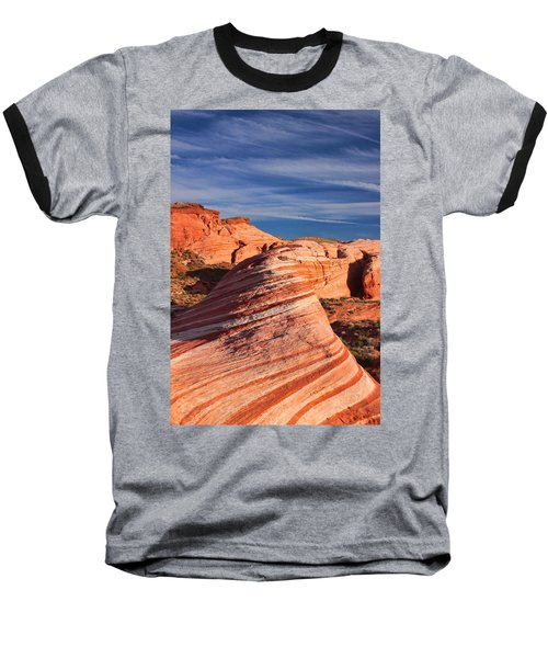 Baseball T-Shirt featuring the photograph Fire Wave by Tammy Espino