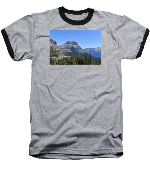 Fire Within Glacier National Park Baseball T-Shirt