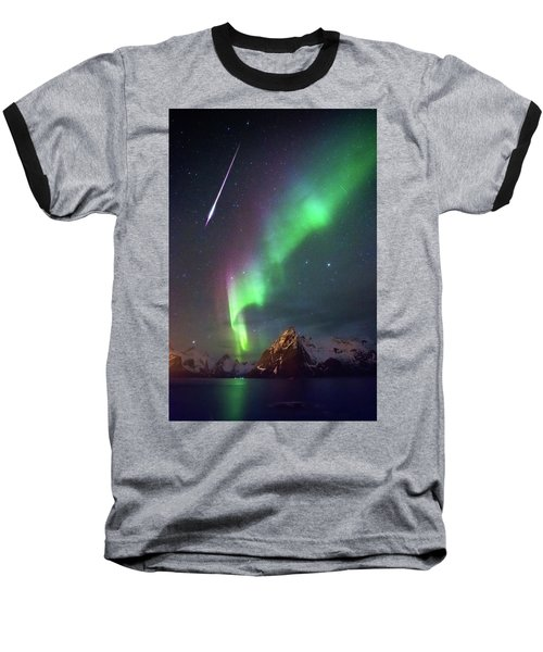 Fireball In The Aurora Baseball T-Shirt