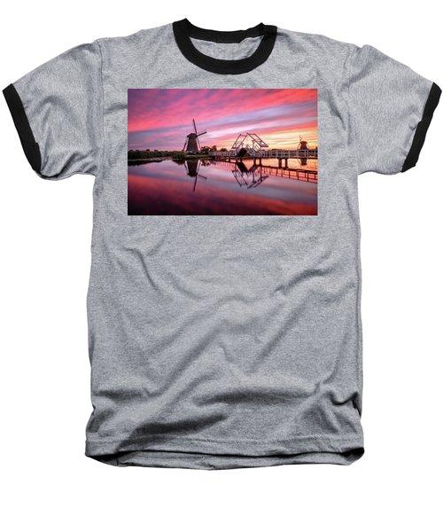Fired Sky Kinderdijk Baseball T-Shirt