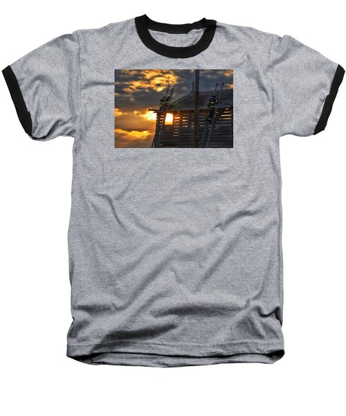 Baseball T-Shirt featuring the photograph Firefighters In Training by Nikki McInnes