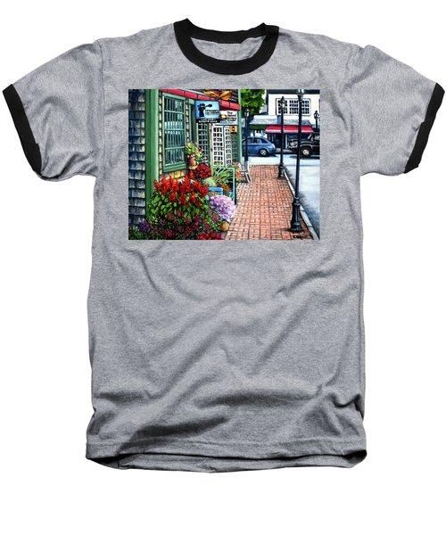 Firefly Lane Bar Harbor Maine Baseball T-Shirt by Eileen Patten Oliver