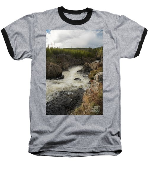 Firehole River Cascade Baseball T-Shirt by Cindy Murphy - NightVisions