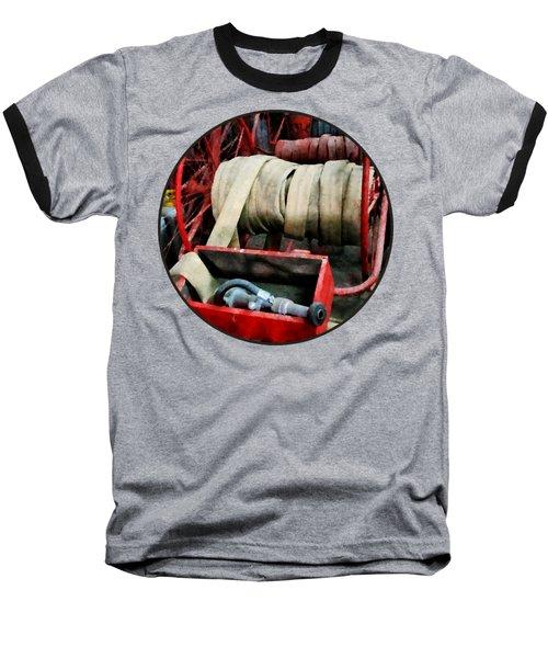 Fireman - Fire Hoses Baseball T-Shirt by Susan Savad