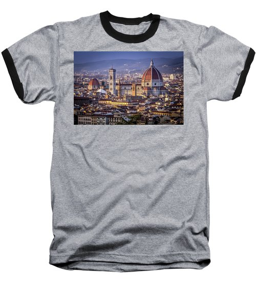 Baseball T-Shirt featuring the photograph Firenze E Il Duomo by Sonny Marcyan