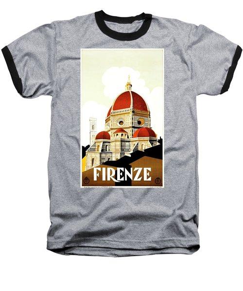 Firenze Travel Poster 1930 Baseball T-Shirt