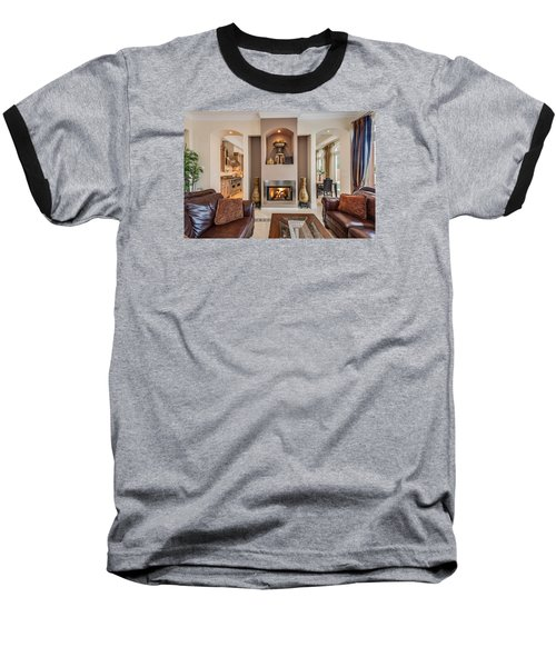 Fireplace Baseball T-Shirt