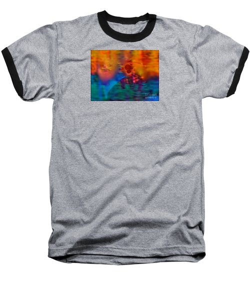 Baseball T-Shirt featuring the painting Firewall Berries by Patricia Schneider Mitchell