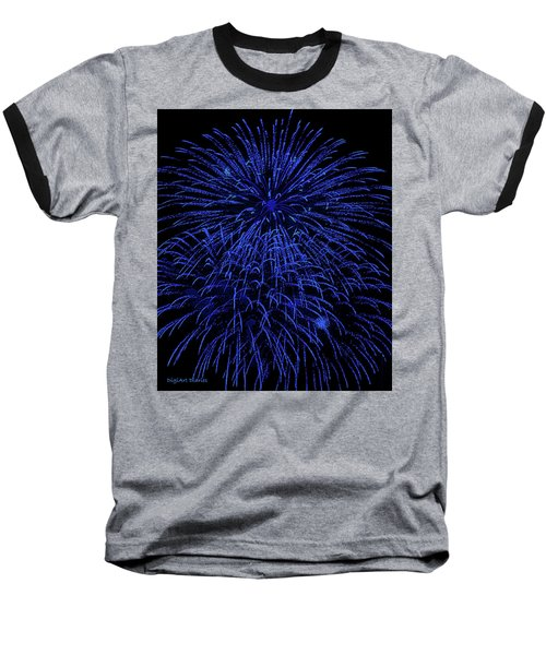 Firework Blues Baseball T-Shirt