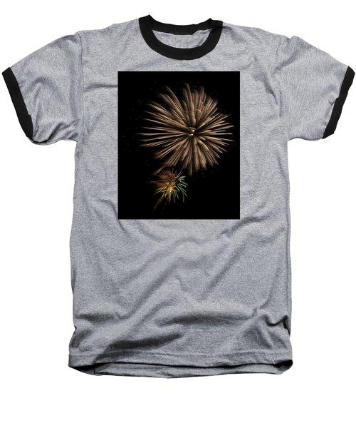 Fireworks 4 Baseball T-Shirt by Ellery Russell