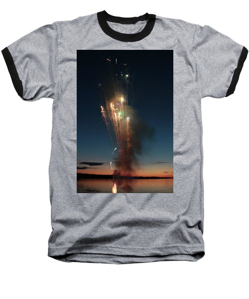 Fireworks After Sunset Baseball T-Shirt