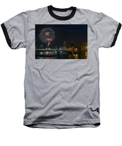 Fireworks And 17th Street Docks Baseball T-Shirt