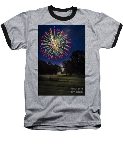 Fireworks Beauty Baseball T-Shirt