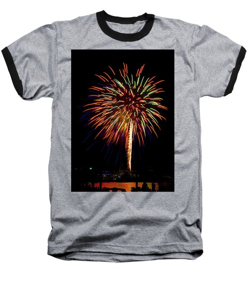 Fireworks Baseball T-Shirt by Bill Barber