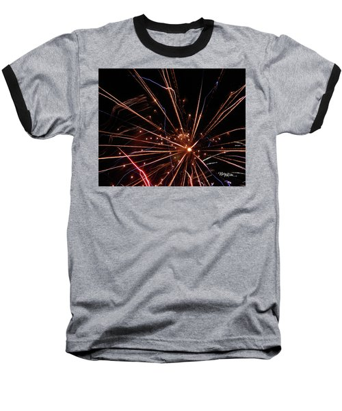Baseball T-Shirt featuring the photograph Fireworks Blast #0703 by Barbara Tristan