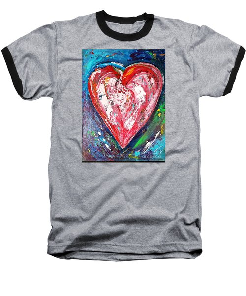Baseball T-Shirt featuring the painting Fireworks by Diana Bursztein