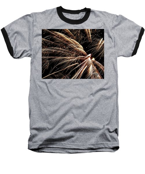 Baseball T-Shirt featuring the photograph Fireworks Evolution #0710 by Barbara Tristan