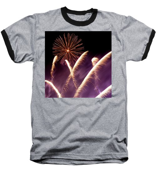Fireworks In The Night Baseball T-Shirt