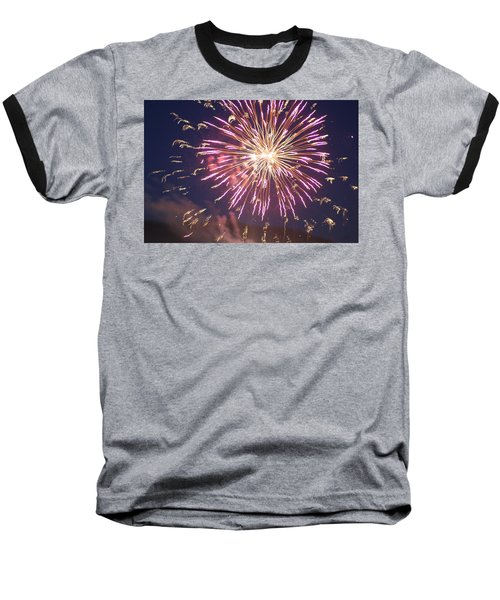 Baseball T-Shirt featuring the digital art Fireworks In The Park 2 by Gary Baird