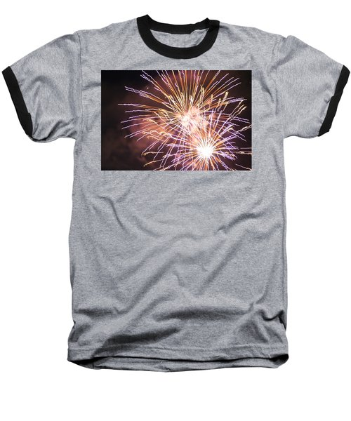 Fireworks In The Park 3 Baseball T-Shirt