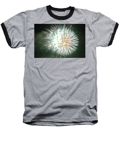 Baseball T-Shirt featuring the digital art Fireworks In The Park 4 by Gary Baird
