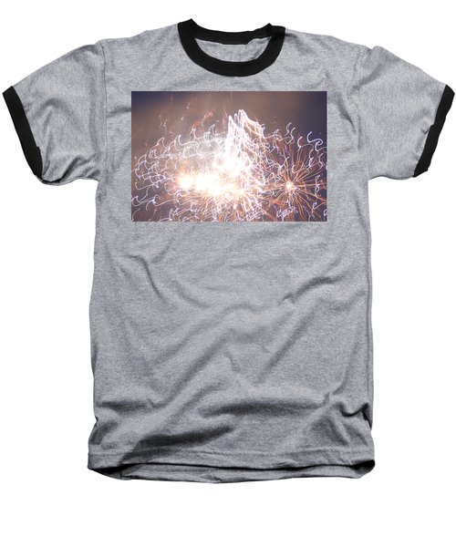 Baseball T-Shirt featuring the digital art Fireworks In The Park 6 by Gary Baird