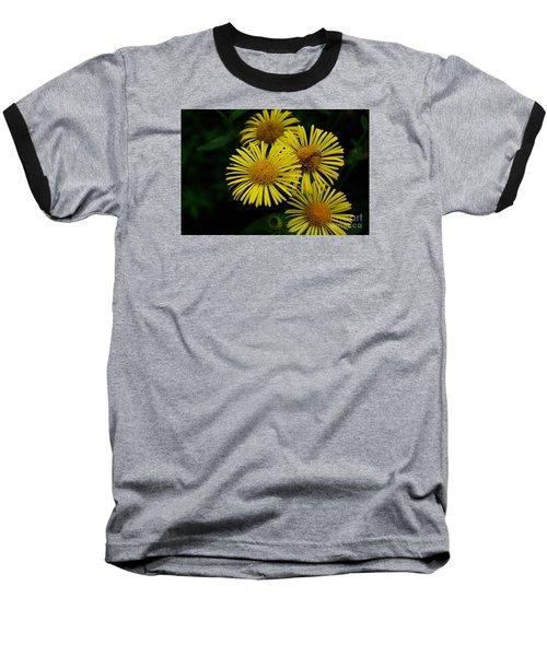 Fireworks In Yellow Baseball T-Shirt by John S