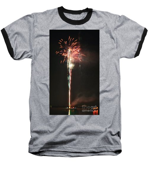 Fireworks On The Lake Baseball T-Shirt