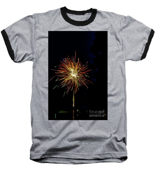 Fireworks Baseball T-Shirt by William Norton
