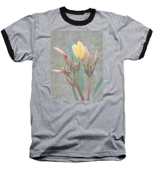 Baseball T-Shirt featuring the photograph First Bud by Rosalie Scanlon