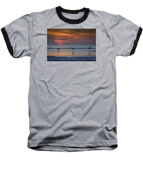 Baseball T-Shirt featuring the photograph First Flight First Light by Steven Sparks