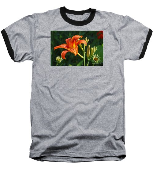 First Flower On This Lily Plant Baseball T-Shirt by Steve Augustin
