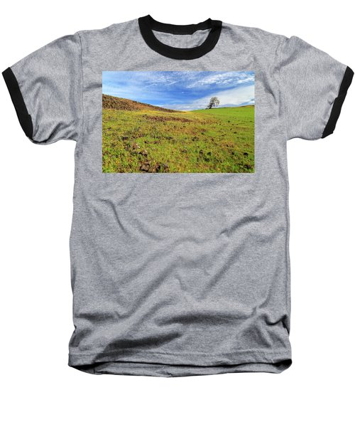 Baseball T-Shirt featuring the photograph First Flowers On North Table Mountain by James Eddy