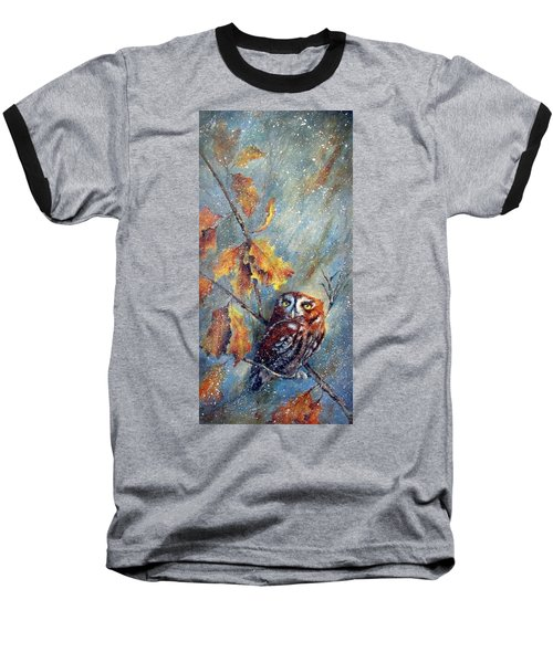 First Flurries Baseball T-Shirt by Mary McCullah