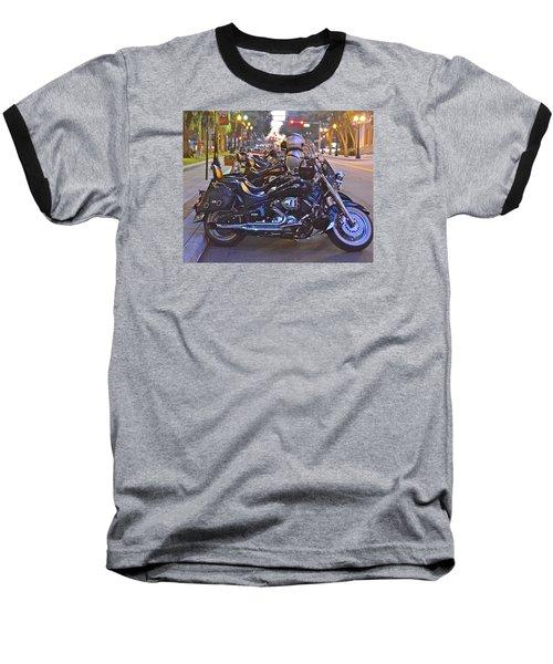 First Friday Bike Night Baseball T-Shirt