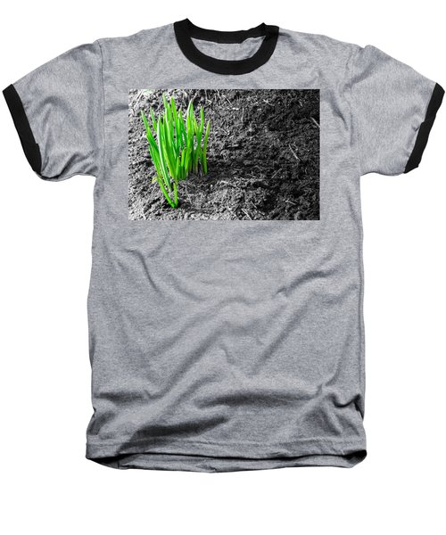 First Green Shoots Of Spring And Dirt Baseball T-Shirt