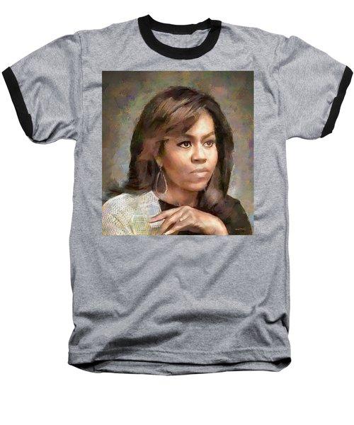 First Lady Michelle Obama Baseball T-Shirt