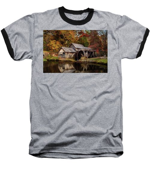 First Light At Mabry Mill Baseball T-Shirt
